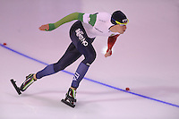 SPEEDSKATING: CALGARY: 14-11-2015, Olympic Oval, ISU World Cup, 1000m B-division, Jan Daldossi (ITA), ©foto Martin de Jong