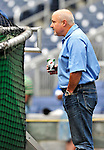 24 April 2010: Washington Nationals' General Manager Mike Rizzo watches batting practice prior to a game against the Los Angeles Dodgers at Nationals Park in Washington, DC. The Dodgers edged out the Nationals 4-3 in a thirteen inning game. Mandatory Credit: Ed Wolfstein Photo