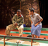 Liberian Girl <br /> at the Royal Court Theatre, London, Great Britain <br /> press photocall<br /> 9th January 2015 <br /> <br /> Juma Sharkah as  Frisky <br /> <br /> Weruche Opia as Finda<br /> <br /> <br /> <br /> <br /> Photograph by Elliott Franks <br /> Image licensed to Elliott Franks Photography Services