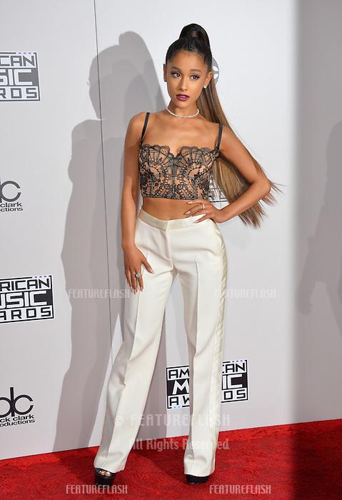 LOS ANGELES, CA. November 20, 2016: Singer Ariana Grande at the 2016 American Music Awards at the Microsoft Theatre, LA Live.<br /> Picture: Paul Smith/Featureflash/SilverHub 0208 004 5359/ 07711 972644 Editors@silverhubmedia.com