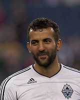 Vancouver Whitecaps FC defender Mouloud Akloul (50). In a Major League Soccer (MLS) match, the New England Revolution defeated the Vancouver Whitecaps FC, 1-0, at Gillette Stadium on May14, 2011.