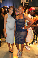NEW YORK, NY - SEPTEMBER 13: Angela Simmons and Yandy Smith pictured at the Vipe Activewear Fashion Show featuring Vipe Noir by Angela Simmons at KIA Style 360 during New York Fashion Week on September 13, 2016. Credit: Walik Goshorn/MediaPunch