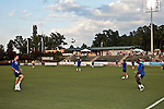 September 12, 2009. Cary, NC..The Carolina Railhawks took over the #2 spot in the league after a 2-1 victory over the Puerto Rico Islanders.. The Islanders warm up before the game.