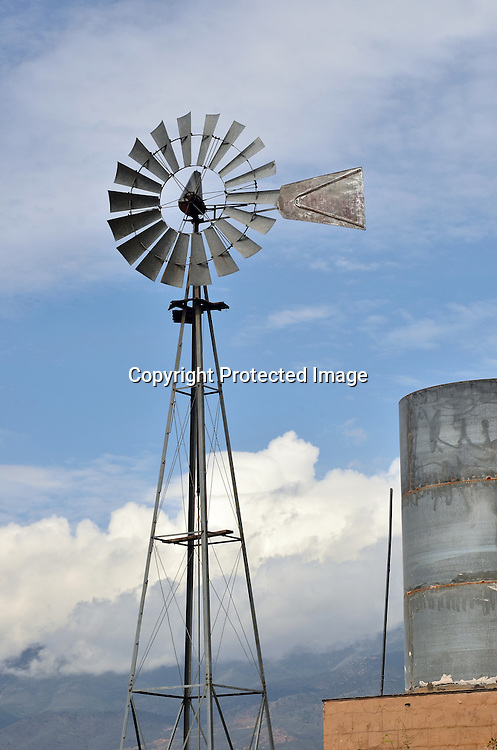 Stock photo of western windmill