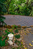 Labyrinth walk at the Sacred Garden of Maliko, Makawao, Maui