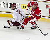 Michael Matheson (BC - 5), Wade Megan (BU - 18) - The Boston College Eagles defeated the visiting Boston University Terriers 5-2 on Saturday, December 1, 2012, at Kelley Rink in Conte Forum in Chestnut Hill, Massachusetts.