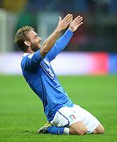 Fussball International  WM Qualifikation 2014   Italien - Daenemark                16.10.2012 Jubel Daniele De Rossi (Italien)