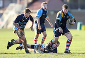 Alex Reed in action for Old Cooperians - Old Cooperians RFC vs Old Brentwoods RFC - Essex Rugby League at Coopers Coborn School, Upminster - 30/01/10 - MANDATORY CREDIT: Gavin Ellis/TGSPHOTO - Self billing applies where appropriate - Tel: 0845 094 6026