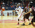"Ole Miss' Maurice Aniefiok (12) at the C.M. ""Tad"" Smith Coliseum in Oxford, Miss. on Friday, November 11, 2011. Ole Miss won 60-38 in the season opener."