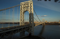 FORT LEE, NJ - APRIL 2: Traffic is seen along George Washington Bridge between New York and New Jersey on April 2, 2017 in Fort Lee, New Jersey. Photo by VIEWpress/Eduardo MunozAlvarez