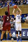 14 December 2015: Duke's Haley Gorecki (2) and UMass's Alyx Stiff (3). The Duke University Blue Devils hosted the University of Massachusetts Minutewomen at Cameron Indoor Stadium in Durham, North Carolina in a 2015-16 NCAA Division I Women's Basketball game. Duke won the game 70-46.