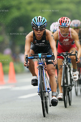Ai Ueda (JPN), <br /> MAY 16, 2015 - Triathlon : <br /> 2015 ITU World Triathlon Series Yokohama <br /> Women's Elite <br /> in Yokohama city, Kanagawa, Japan. <br /> (Photo by YUTAKA/AFLO SPORT)