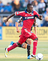 Santa Clara, California - Saturday July 28, 2012: Chicago Fire's Patrick Nyarko in action during a game against San Jose Earthquakes at Buck Shaw Stadium, Stanford, Ca    San Jose Earthquakes and Chicago Fire tied 0 - 0
