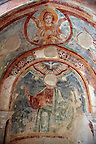 Late medieval Fresco 13-14th century, Of the Cathedral museum chapel, Amalfi, Italy