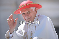Pope Benedict XVI during his weekly general audience in St. Peter square at the Vatican, Wednesday. 22 June, 2011