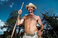 Cuba, March 1992: A tobacco farmer near Vinales, Cuba.