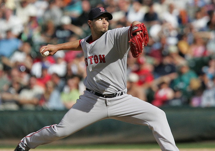 27 June 2007: Red Sox pitcher Joel Pineiro Seattle Mariners vs Boston Red Sox at Safeco Park in Seattle, Washington.