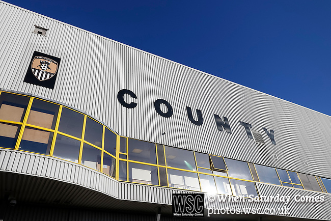 Notts County 0 Mansfield Town 0, 14/01/2017. Meadow Lane, League Two. Exterior of the Derek Paris Stand. Photo by Paul Thompson.