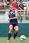 19 August 2014: Alex Morgan. The United States Women's National Team held a public training session at WakeMed Stadium in Cary, North Carolina.