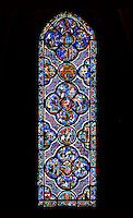 The Good Samaritan and Adam and Eve window, circa 1210, Chartres Cathedral, Eure et Loir, France Picture by Manuel Cohen