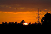 Electricity pylons, Oxfordshire, United Kingdom