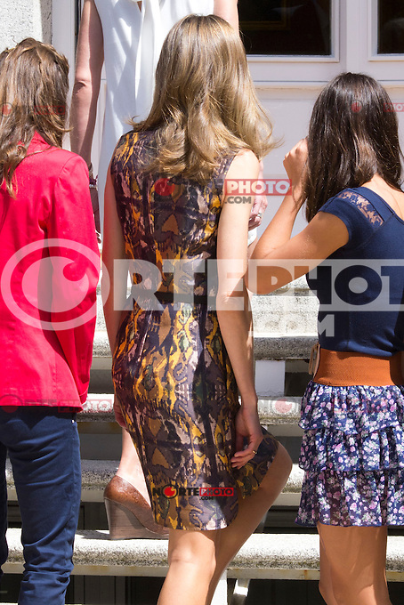 26.07.2012. Princess Letizia of Spain attends audience with the  representation of Toledo Athletic Club, chaired by Julian Martin Garrido at Zarzuela Palace. In the image Princess Letizia (Alterphotos/Marta Gonzalez) /NortePhoto.com<br />