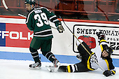 Andrew Wigg (PSU - 39), Adam Frank (WIT - 13) - The visiting Plymouth State University Panthers defeated the Wentworth Institute of Technology Leopards 2-1 on Monday, November 19, 2012, at Matthews Arena in Boston, Massachusetts.