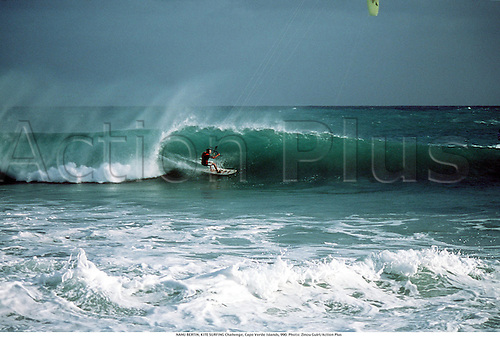 NANU BERTIN, KITE SURFING Challenge, Cape Verde Islands, 990. Photo: Zinou Guiri/Action Plus...1999.watersport.extreme.flysurfing.kitesurfing.sea.wind.extreme sports sport.excitement.radical.fun.daring.dare.kite surfing kite-surfing.kite board boards boarding kiteboards kiteboarding kiteboard kite-board kite-boards kite-boarding.xtreme