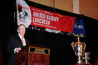 D.C. United President and CEO Kevin Payne ,at the United Kickoff luncheon, at the Marriott hotel in Washington DC, March 5, 2012.