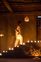 Natural lighting prevails throughout the lodge and at night it is lit by candles, lanterns and tealights