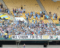 Fans of the Philadelphia Union during an MLS match against D.C. United at RFK Stadium on August 22 2010, in Washington DC. United won 2-0.