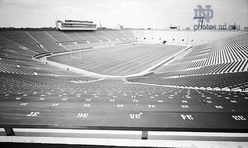 GPHR 22/2189:  Notre Dame Stadium interior, 1973/0910.  Image from the University of Notre Dame Archives.