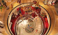 Spiral staircase, Fortnum & Mason Piccadilly Store, London, UK. Picture by Manuel Cohen