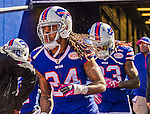 12 October 2014: Buffalo Bills cornerback Stephon Gilmore takes the field against the New England Patriots at Ralph Wilson Stadium in Orchard Park, NY. The Patriots defeated the Bills 37-22 to move into first place in the AFC Eastern Division. Mandatory Credit: Ed Wolfstein Photo *** RAW (NEF) Image File Available ***