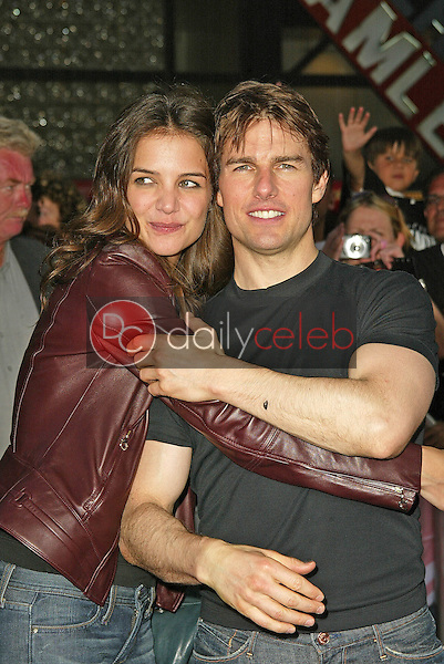 Katie Holmes and Tom Cruise<br />