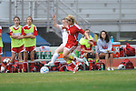 Oxford High's Sarah Nash vs. Lafayette High's Alley Houghton (3) in girls high school soccer in Oxford, Miss. on Saturday, December 8, 2012. Oxford won 1-0.
