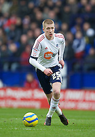 BOLTON, ENGLAND - Saturday, January 26, 2013: Bolton Wanderers' Josh Vela in action against Everton during the FA Cup 4th Round match at the Reebok Stadium. (Pic by David Rawcliffe/Propaganda)