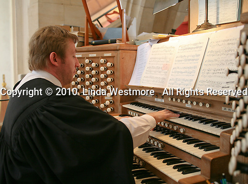 Organist for the degree ceremony, Guildford Cathedral.