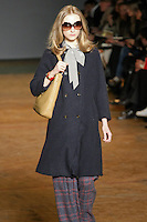 Dempsey Stewart walks runway in an outfit from the Marc by Marc Jacobs Fall/Winter 2011 collection, during New York Fashion Week, Fall 2011.