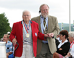 26 August 2007: Hall of Famer Paul Danilo (l) with Hall of Fame Director of Museum and Archives Jack Huckel (r). The National Soccer Hall of Fame Induction Ceremony was held at the National Soccer Hall of Fame in Oneonta, New York.