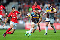 Danny Care of Harlequins in possession. Aviva Premiership match, between Harlequins and Saracens on September 24, 2016 at the Twickenham Stoop in London, England. Photo by: Patrick Khachfe / JMP
