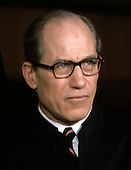 """Associate Justice of the United States Supreme Court Byron R. White photographed at the Supreme Court in Washington, D.C. on Monday, April 24, 1972.  He was appointed by U.S. President John F. Kennedy in 1962..Credit: Benjamin E. """"Gene"""" Forte / CNP"""