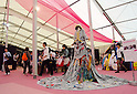 November 5th, 2011 : Tokyo, Japan &ndash; A big dress is displayed during 2011 Tokyo Designers Week. It is held in Meiji Jingu Gaien, from November 1st to 6th. The theme of this year is &ldquo;Love/ARIGATO&rdquo;. Designers, artists, and organizations express their ideas and their creative works such as contemporary art, music, unique goods and workshops during this show. (Photo by Yumeto Yamazaki/AFLO)
