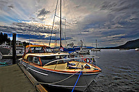 Boat at Dock, Cowichan Bay