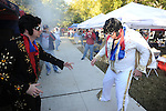 The Rebel Tailgaters dress as Elvis before the Ole Miss vs. Arkansas at Vaught-Hemingway Stadium in Oxford, Miss. on Saturday, October 22, 2011. .