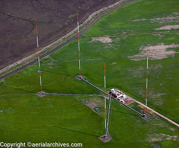aerial photograph, KGO radio transmission towers Novato, Marin County, California