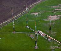 aerial photograph, KGO radio transmission towers Novato, Marin County, California