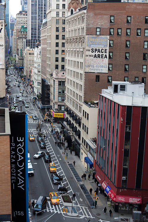 The roof from Toshi's Penthouse, located in the Flatiron Hotel at 1141 Broadway, New York, NY, offers a view facing north up Broadway and a stunning look out at the Empire State Building. The rooftop bar will open in May 2013...There is a restaurant/bar boom happening on 26th Street between Broadway and 7th Avenue in Manhattan. About six new places have opened up in the last 8 months. This area of development is called NoMad (north of Madison Sq. Park)...Photographed on 4/23/13 by Mark Abramson for The Wall Street Journal.