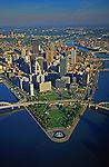 Pittsburgh, PA, Skyline,  Golden Triangle, Aerial Photograph Pennsylvania,
