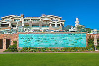 Laguna Beach Montage Resort porcelain-tiled wall mural, California, seaside resort, artist community, located in southern, Orange County, California, United States